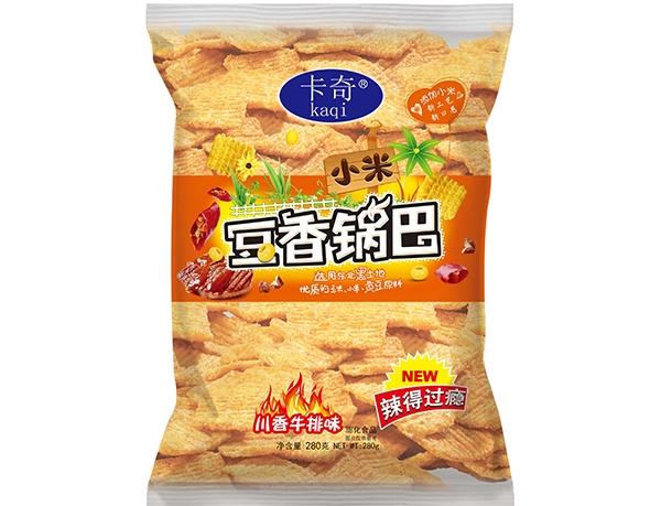 280g豆香小米锅巴-川香牛排味